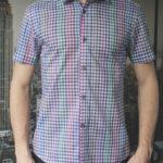 Рубашка в цветную клетку Vester 85916 E спереди