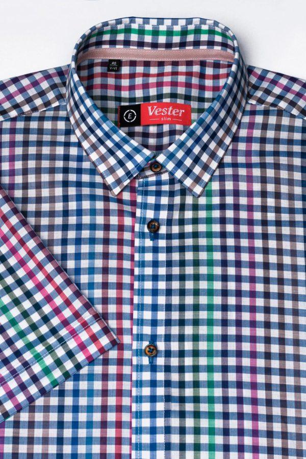 Рубашка в цветную клетку Vester 85916 E
