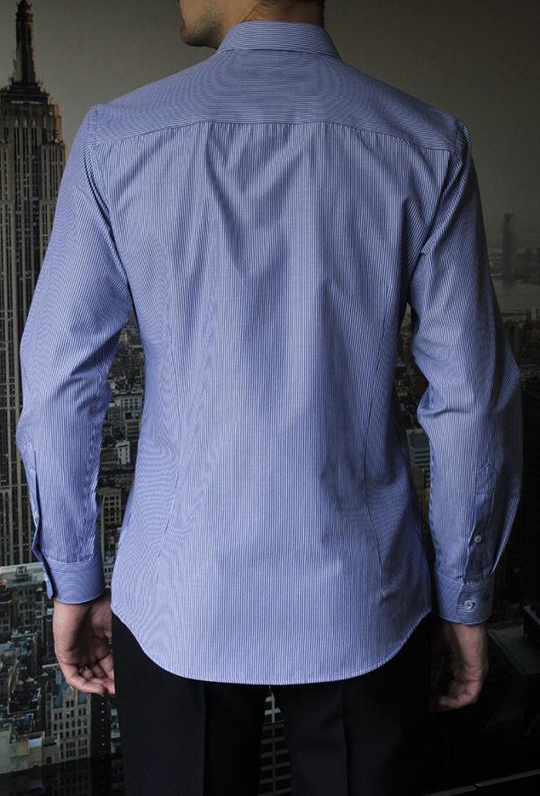 Рубашка в широкую синюю полоску Vester 93814 S сзади
