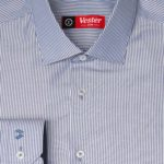 Рубашка в широкую синюю полоску Vester 93814 S