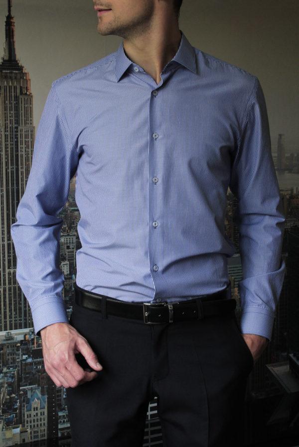 Рубашка в широкую синюю полоску Vester 93814S_11