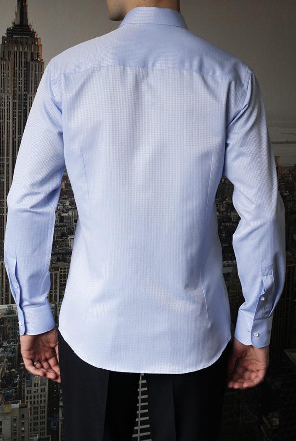Рубашка голубая фактурная Vester 70714 S сзади