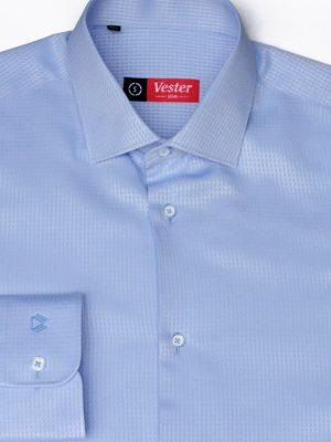Рубашка голубая фактурная Vester 70714 S