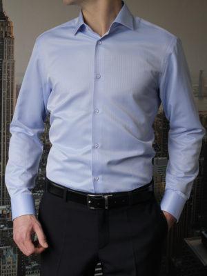 Рубашка голубая фактурная Vester 70714S_08