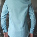 Рубашка мятная с зелеными линиями Vester 86816 S сзади