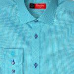 Рубашка мятная с зелеными линиями Vester 86816 S