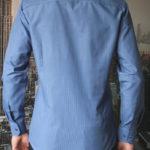 Рубашка синяя в темно синюю полоску Vester 68814 W сзади