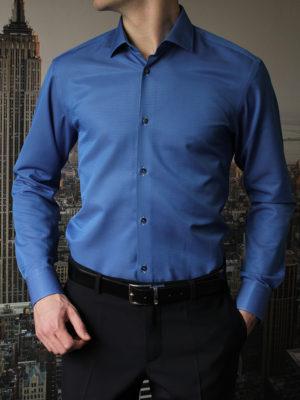 Рубашка синяя фактурная Vester 70714S_09