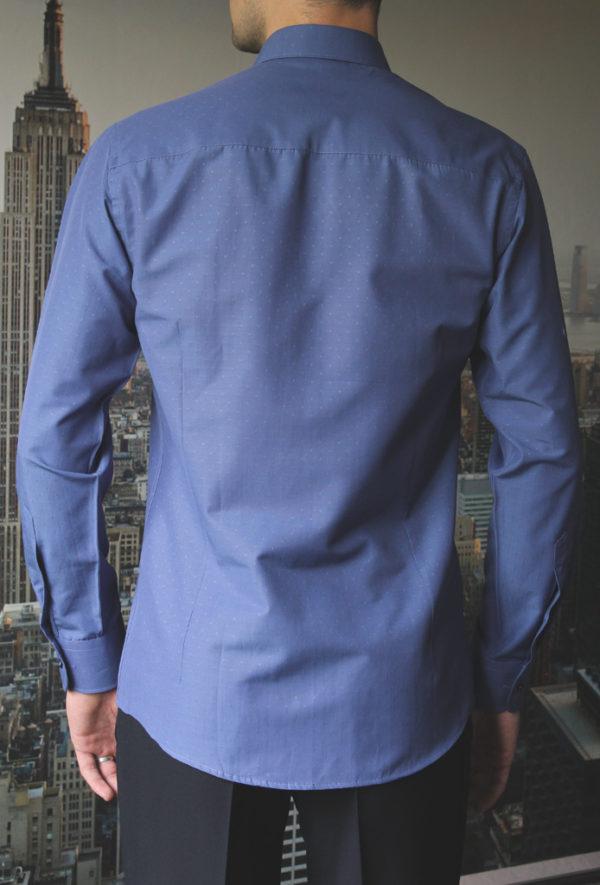 Темно-синяя рубашка с узелками Vester 70714 S сзади