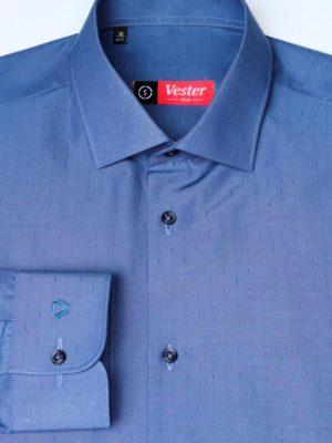 Темно-синяя рубашка с узелками Vester 70714 S
