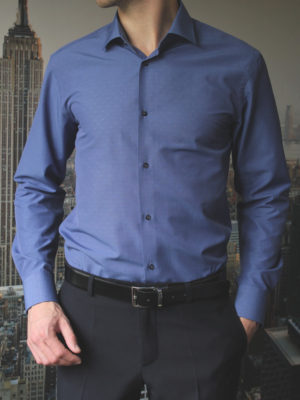 Темно-синяя рубашка с узелками Vester 70714S_07