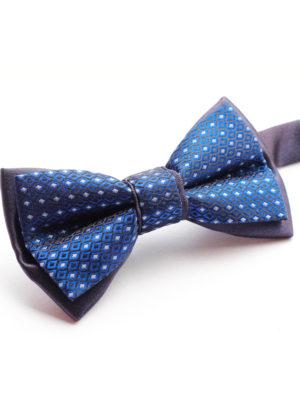Галстук-бабочка детская синяя с голубым