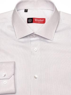 Белая рубашка в тонкую синюю полоску Vester 68814 W