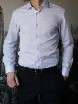 Белая рубашка в тонкую синюю полоску Vester 68814W_01
