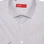 Рубашка в голубую полосатую клетку Vester 72914 S