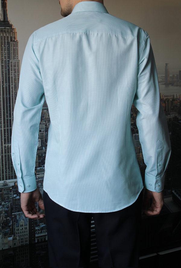 Рубашка в мятную полоску Vester 68814 W сзади