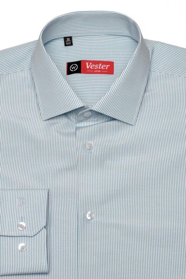 Рубашка в мятную полоску Vester 68814 W