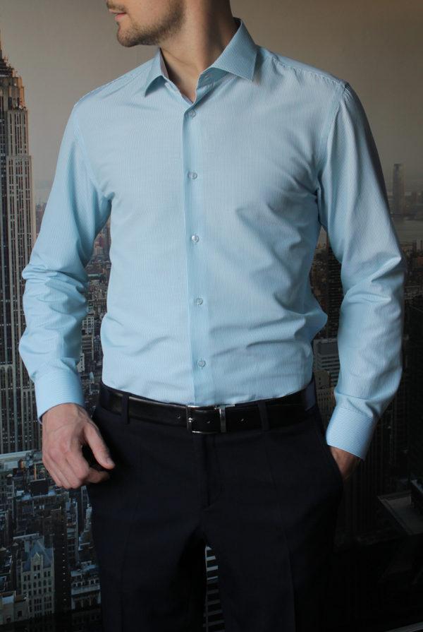 Рубашка в мятную полоску Vester 68814W_06