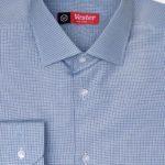 Рубашка в синюю клетку с зелеными линиями Vester 68814 W