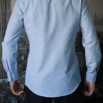 Рубашка в темно-синюю полоску Vester 68814 W сзади