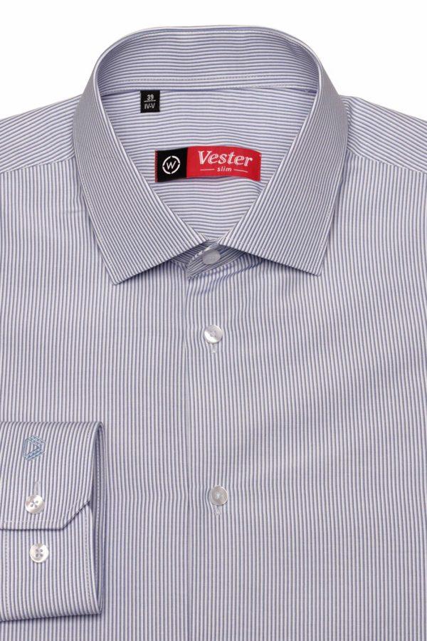 Рубашка в темно-синюю полоску Vester 68814 W