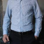 Рубашка в темно-синюю полоску Vester 68814W_07