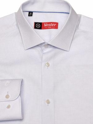Рубашка нежно-голубая фактурная Vester 10416 W