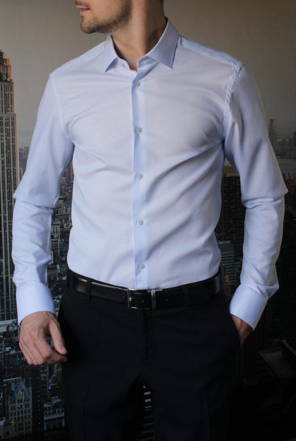 Рубашка нежно-голубая фактурная Vester 10416W_03