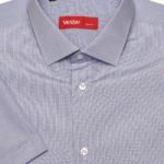 Рубашка с коротким рукавом в мелкую синюю клетку Vester 72914 S