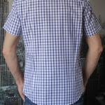 Рубашка с коротким рукавом в широкую синюю клетку Vester 10814 E сзади