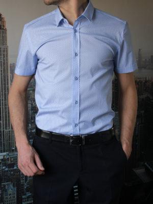 Рубашка с прямоугольным узором Vester 95516E_02