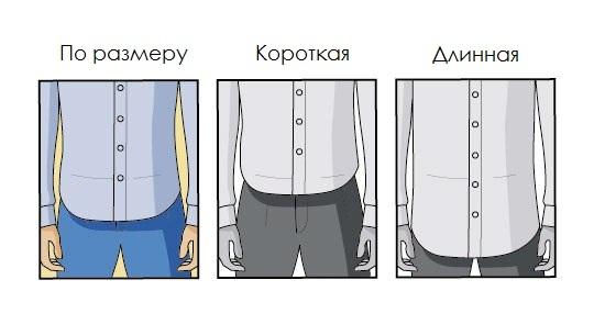 правильная длинна рубашки