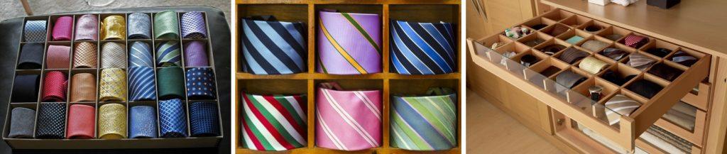 галстуки в скрученном виде - варианты